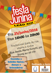 cartaz festa junina 2016