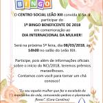 convite Bingo 2018