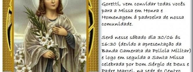 """Festa """"Santa Maria Goretti""""."""